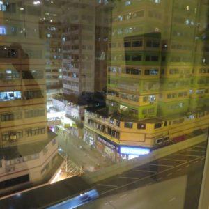 眺めは香港の街並み