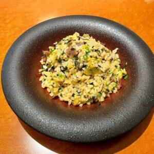 高菜と伹焼入り炒飯