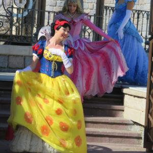 プリンセスがフロートに向かいます